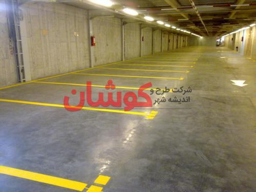 خط کشی و رنگ آمیزی پارکینگ اپراتور رایتل